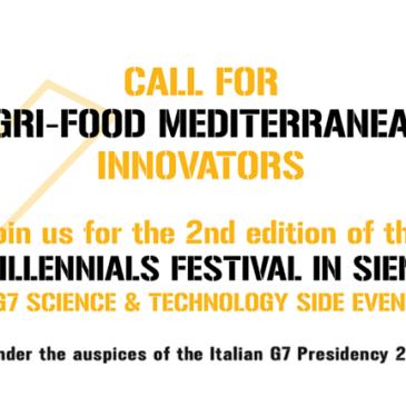 Call for Agrifood Mediterranean Innovators, Millennials Festival 2017