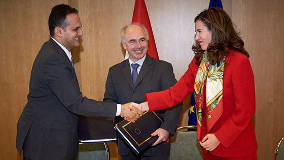 Signing ceremony of the Agreement between the EU and the Arab Republic of Egypt, Brussels, 27 October, 2017