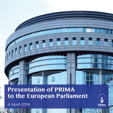 Presentazione all'Europarlamento: grande sostegno a PRIMA come strumento di diplomazia scientifica da parte degli eurodeputati e della Commissione