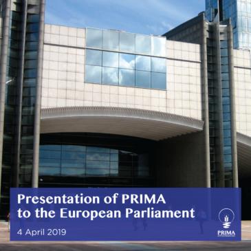 Presentazione di PRIMA al Parlamento Europeo
